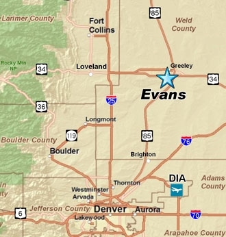 Area Maps City Of Evans Colorado - Colorado maps